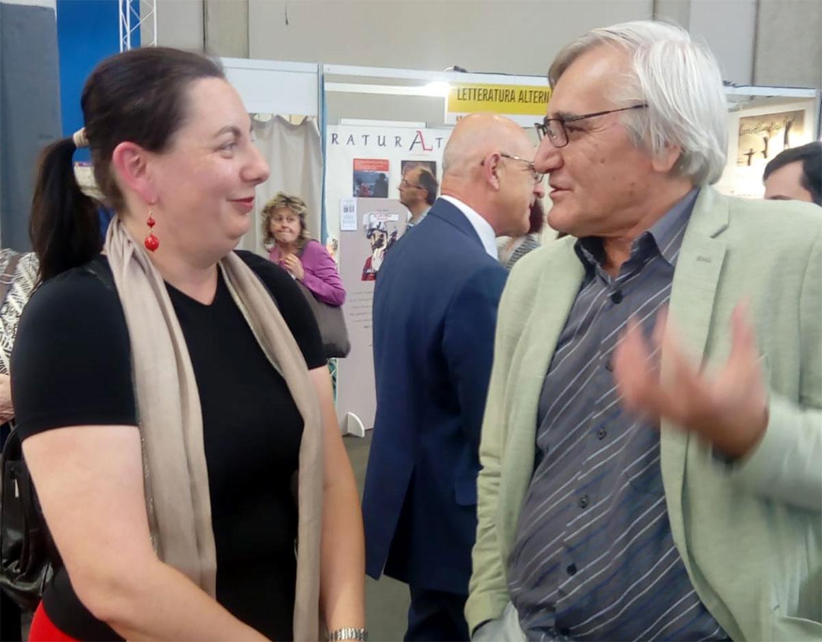 Olga Irimiciuc e Nicolae Oprea al Salone di Torino