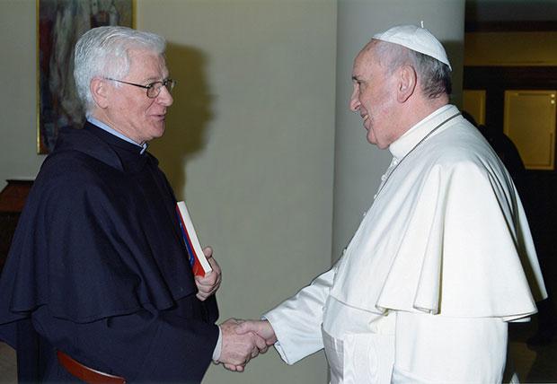 Padre Bruno Secondin con papa Francesco