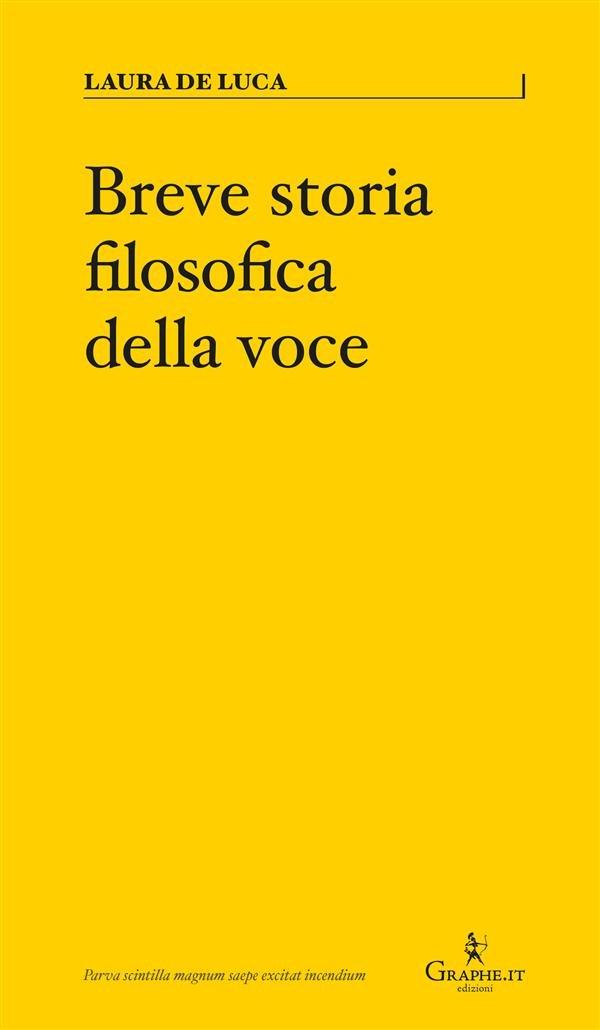 Breve storia filosofica della voce